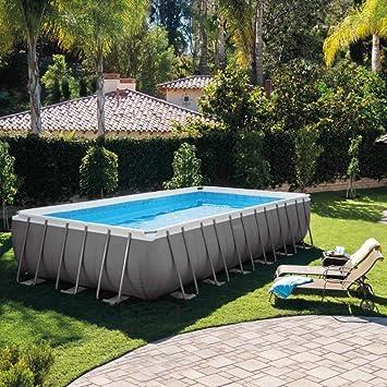 Intex Swimming Pool Rechteck Stahlwand Frame Schwimmbad 732 x 366 x 132cm  28362GS