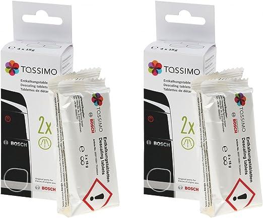 2 unidades Tassimo Bosch pastillas descalcificadoras descalcificador TCZ6004 00311530 4 x L750D-18G: Amazon.es: Hogar