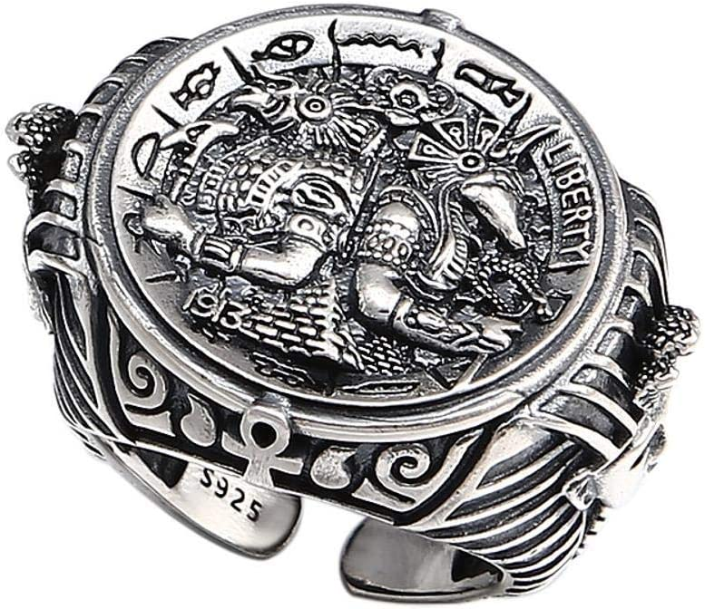 Weiwei Men Ring Rings S925 Sterling Silver Fashion Retro Thai Silver Personality Avatar Ring Mens Birthday Gifts