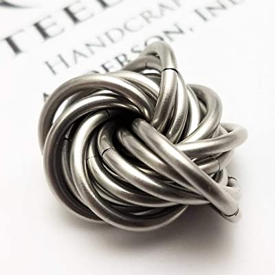 Möbii Stainless Steel: Small Mobius Fidget Ball Toy for Restless Hands, Quiet Stress Desk Toy