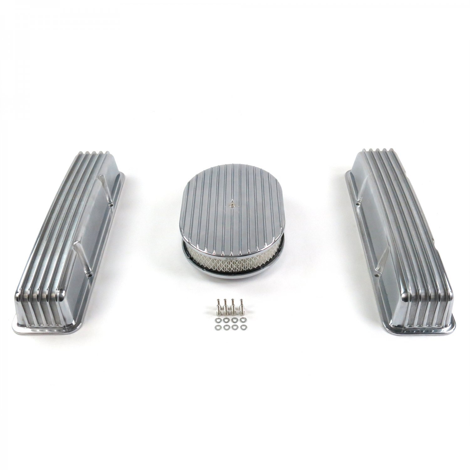 Vintage Parts 333793 SBC 12'' Full Oval/Tall Finned Engine Dress Up kit~w/o Breather Holes, 1 Pack
