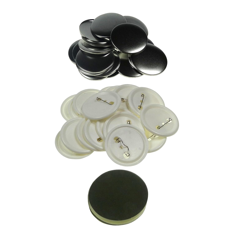 Sol 56 mm Chapas de en blanco y botones de repuesto para botón de ...