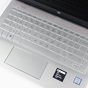VFENG Premium Keyboard Cover Skin for 14 Inch HP Pavilion x360 2 in 1 Convertible 14M-BA011DX 14M-BA013DX 14M-BA114DX Laptop Original Brand for HP Keyboard Protector