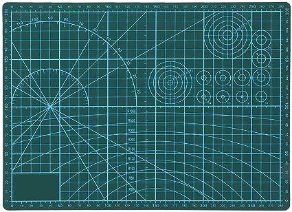 Alfombra de corte lateral doble con Alfombrilla de PVC autorreparable de 11.8x 8.7 Perfecto para coser Scrapbooking Quilting Sewing Craft Verde