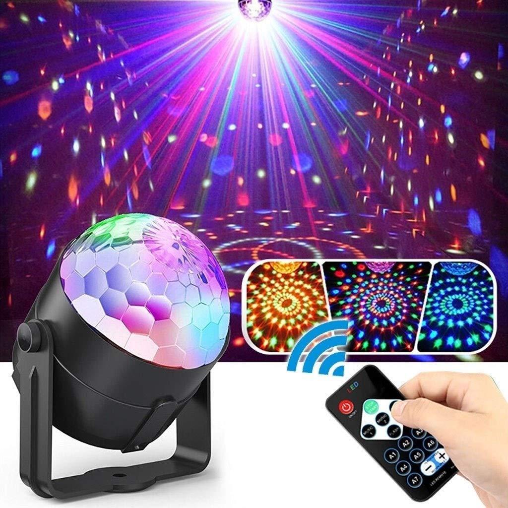 HDZWW Party Lights with Remote Control Dj Lighting RBG Disco Ball Light Projector Magic Ball LED 11 Modes Flash for Home Room Dance Parties Bar Karaoke Xmas Wedding Show Club