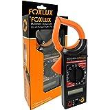 Multímetro Digital com Alicate Amperímetro Foxlux – 1000A – Ponta de Prova – ACV + DCV – Teste de Diodo e Continuidade – Test