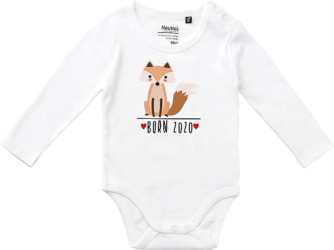 Kleckerliese Baby Body Vintage Spr/üche Jungen M/ädchen Langarm mit Motiv Tiere Fuchs