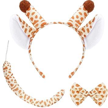 Leopardenohren Haarreif Leoparden Ohren mit Strass und Federn Tier Haarreifen