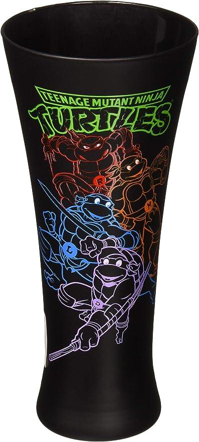 JUST FUNKY Tmnt-Flg-5032-Jfc Teenage Mutant Ninja Turtles Fluted Glass