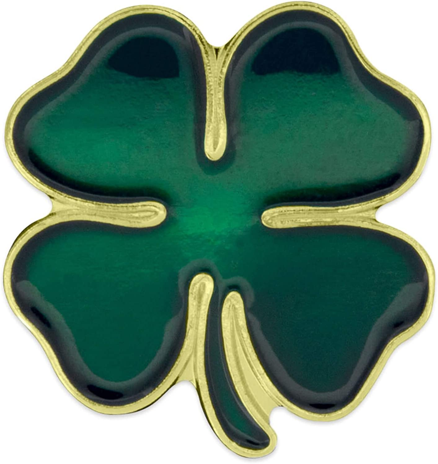 Amazon Com Pinmart Green Four Leaf Clover Shamrock St Patrick S