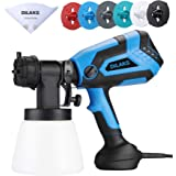 DILAKS 750W Paint Sprayer, HVLP Home Sprayer Gun with 1000ml Container, with 6 Nozzle Size for Different Painting Projects, E