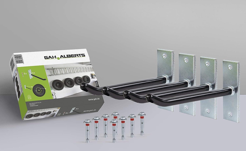 Felgenhalter-Set Haken: 200 mm Überzug mit PVC-Schlauch galvanisch verzinkt