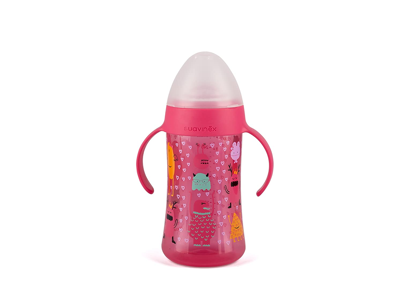 Suavinex 303615 - Biberón antiderrame 270 ml, color rosa: Amazon.es: Bebé