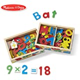 Melissa&Doug 磁性字母和数字套装 数学启蒙早教玩具(89块木制磁铁)