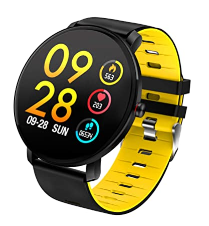 TDOR Smartwatch Deportivo para Hombre Llamadas y Whatsapp, Monitor de Actividad, Color Amarillo