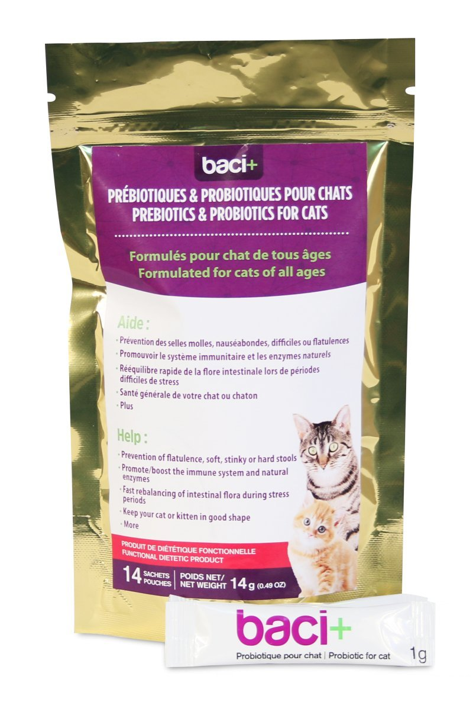 Baci+ - Probiotics and prebiotics for cats - 14g: Amazon ca
