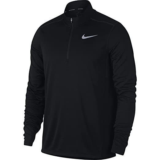 5dd55c1c Image Unavailable. Image not available for. Color: NIKE Men's Pacer Half-Zip  Top, Black, Small