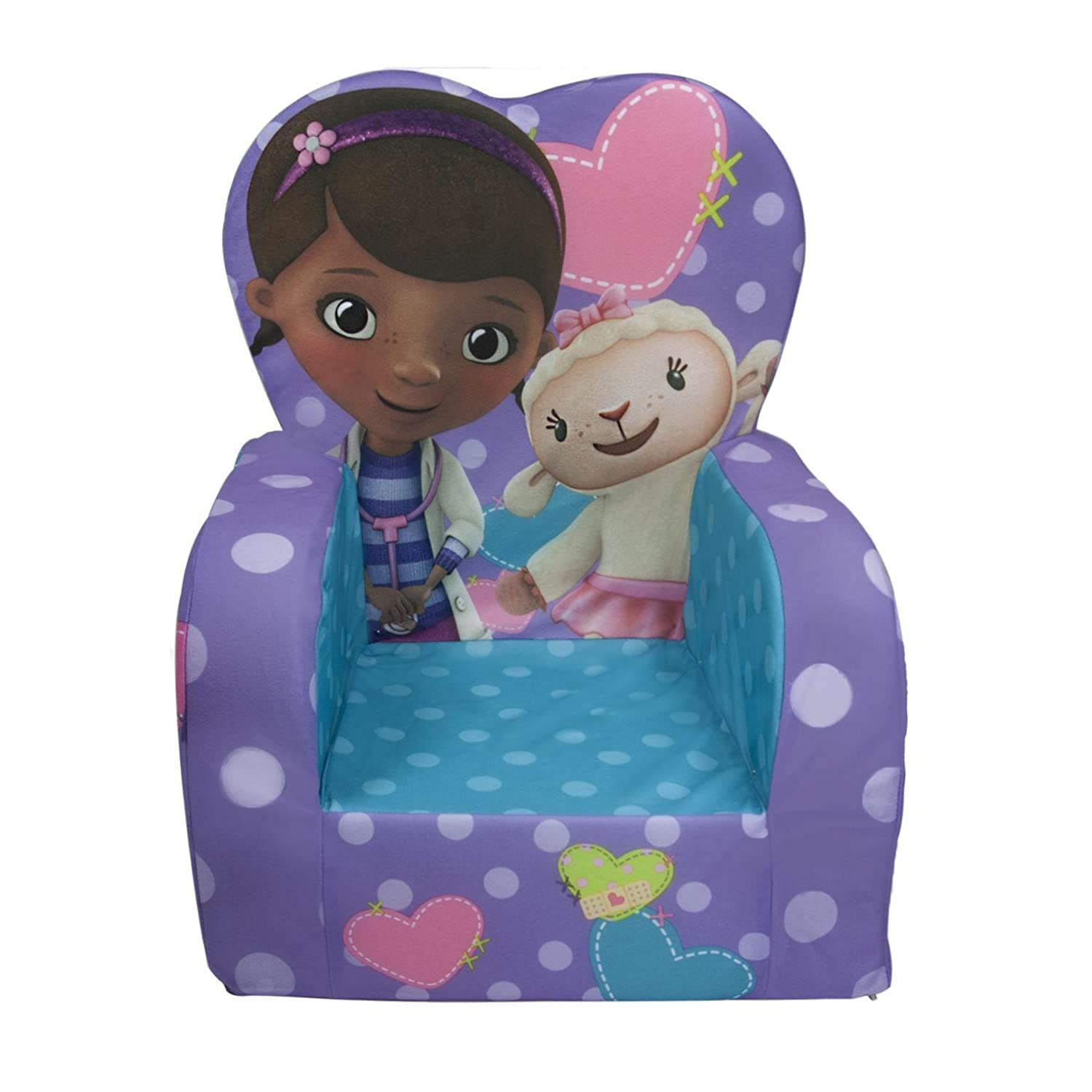 Amazon.com: Marshmallow High Back Chair with Doc McStuffins Theme: Toys u0026  Games