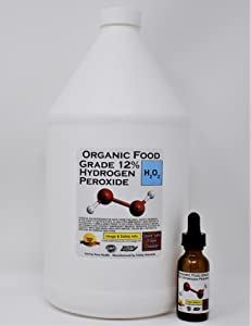 FLASH SALE! 1 Gallon Organic TNL Certified Food Grade Hydrogen Peroxide + Pre-filled Dropper Bottle. Recommended by One Minute Cure & True Power of Hydrogen Peroxide. Shipped Fast. 35% reduced to 12%.