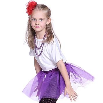 Anladia - Tutu Falda De Tul del 1 Capa Bailarina Baile Danza ...