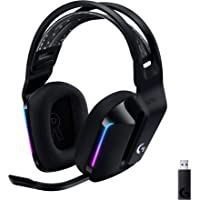 Logitech G733 LIGHTSPEED Wireless Gaming Headset met verende hoofdband, LIGHTSYNC RGB, Blue VO!CE-microfoontechnologie…
