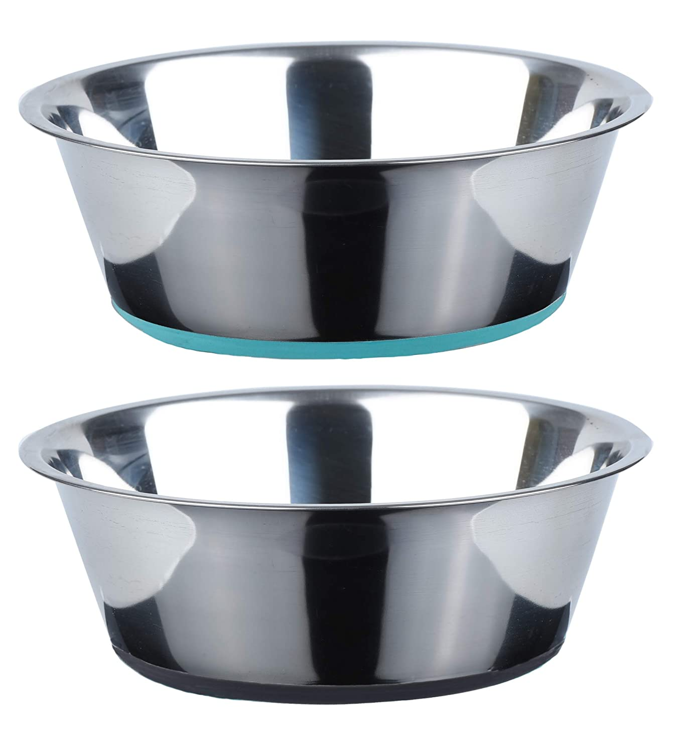 Peggy 11 No Spill Non-Skid Stainless Steel Deep Dog Bowls