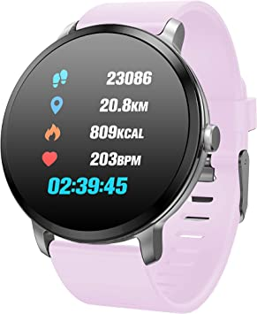 TDOR Smartwatch Hombre Mujer Mensajes Whatsapp, Pulsera Actividad ...