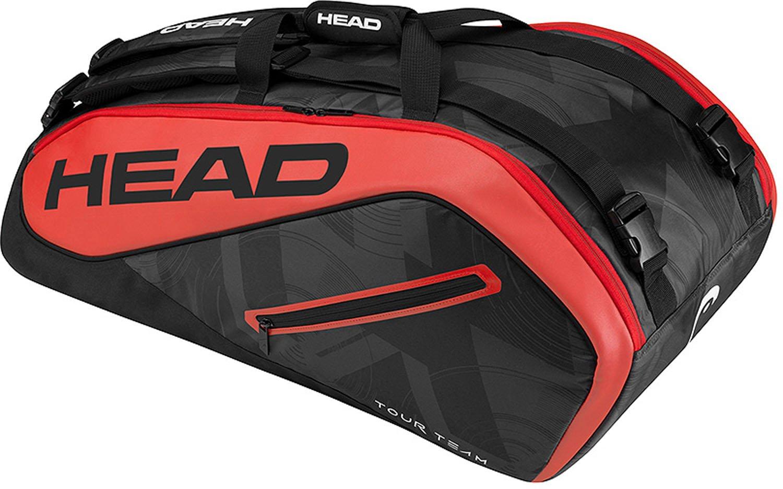 HEAD Tour Team 9R Supercombi Schlägertasche, Schwarz, 68 x 40 x 20 cm HEADF|#HEAD 283447BKRD