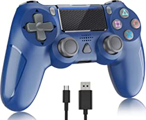Wireless Controller for Playstation 4, Y-Team 1000mAh Controller for PS4 Wireless Gamepad Remote Joystick with Dual Vibration, Gyro Motion, Headset Jack, Touchpad for PS4/Pro/Slim/PC(Midnight Blue)