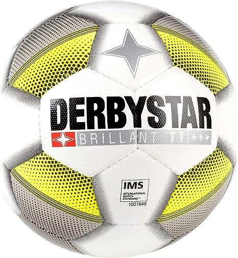 Derbystar Brillant 5 - Balón de fútbol, Unisex, Color Blanco, Gris ...