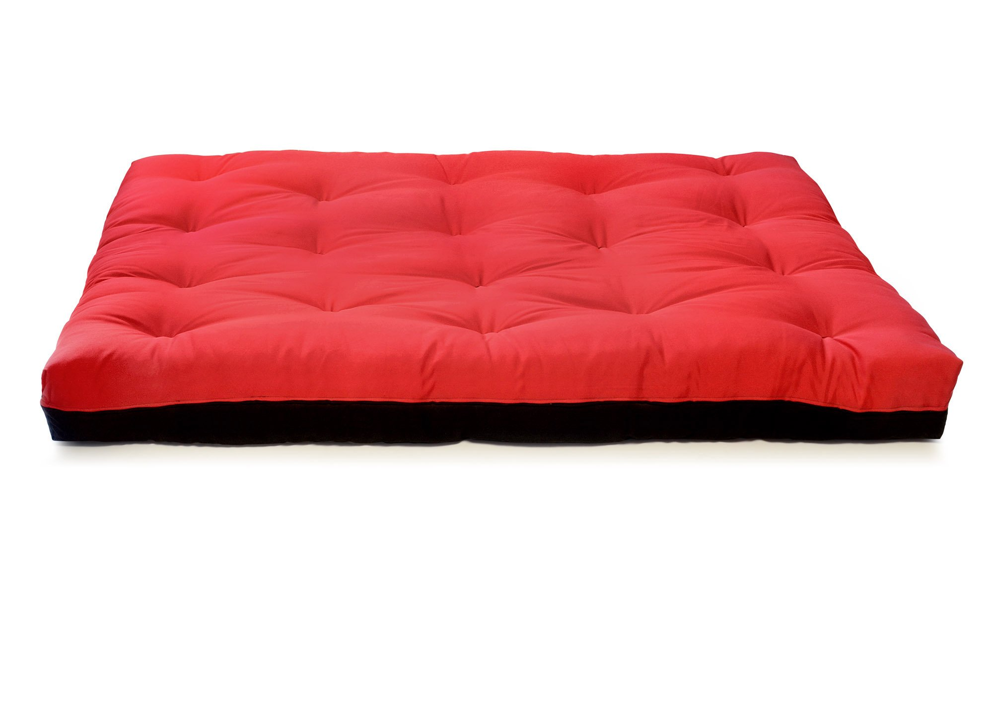 Artiva USA Home Deluxe 8-Inch Futon Sofa Mattress Made in US Best Quality, Full, Solid, Black & Red