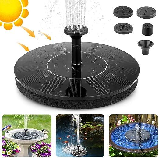Fuente Solar, Sprogo 7V 1.4W Bomba de Fuente Solar Bomba de Agua De Jardín Fuente de Estanque Bomba Solar Decoración Flotante, Bomba Solar Para Exteriores, Baño de Pájaros, Acuario, Estanque: Amazon.es: Jardín