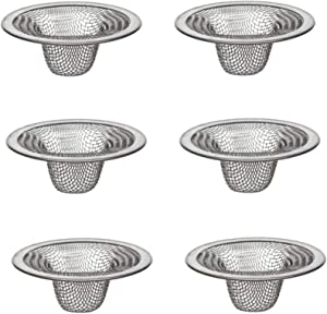 DANCO Bathroom Lavatory Mesh Strainer, Stainless Steel, 2-1/4 Inch, 6-Pack (88820)