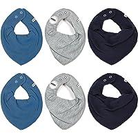 Pippi Pack de 6 pañuelos para bebé, talla única.