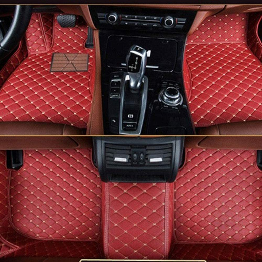 muchkey Leather Car Mats Carpet For Cars Red Wine Car Floor Mats Fit For BMW X5 E70 2008 2009 2010 2011 2012 2013