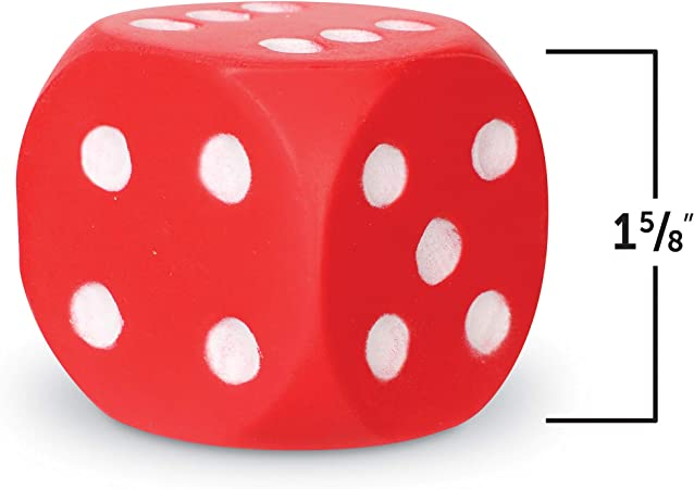 Learning Resources Soft Foam Dice Dots 2 Pieces