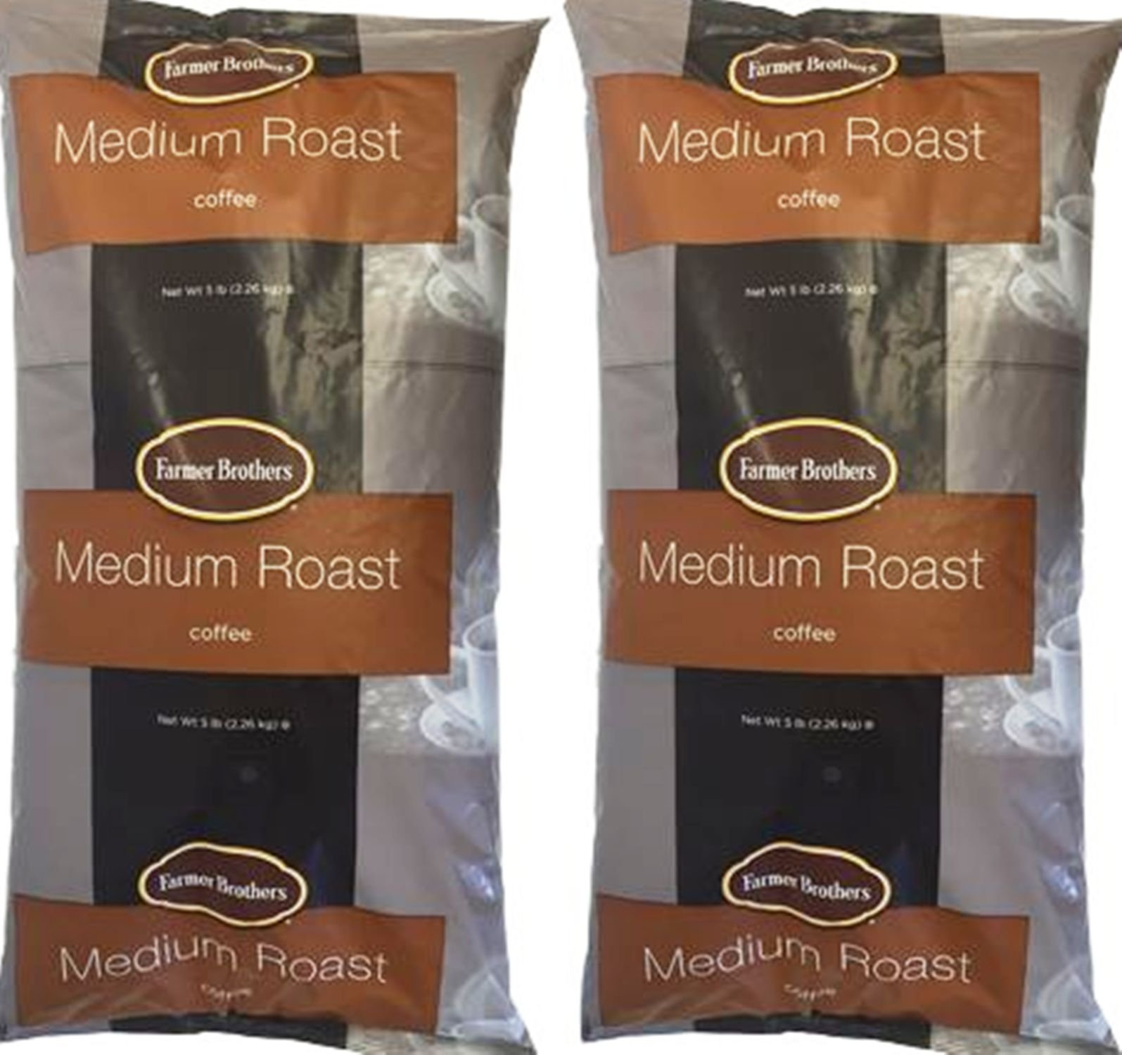 Farmer Brothers Medium Roast Ground Coffee 2 X 5lbs Ground Coffee 1271-2 by Farmer Brothers