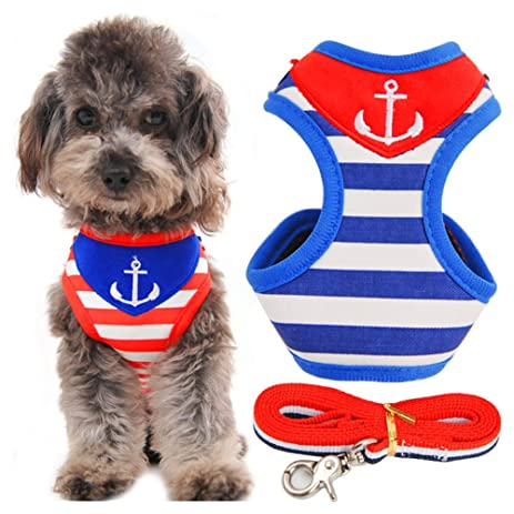 Pet Supplies Strip Small Pet Cat Dog Puppy Harness Vest And Leash