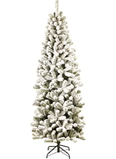 king of christmas 9 foot prince flock slim artificial christmas tree unlit 34 wide