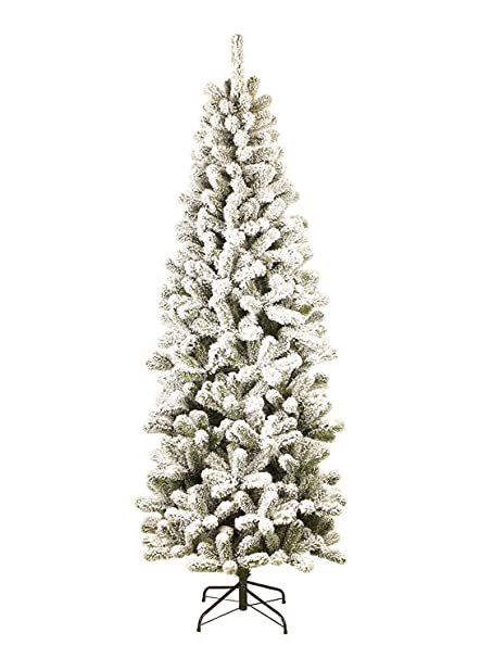 king of christmas 10 foot prince flock slim artificial christmas tree 36