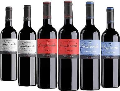 Canforrales Pack de Vino tinto Barrica - Paquete de 6 x 750 ml ...