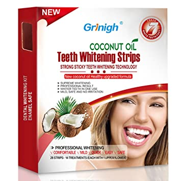 Amazon Com Grinigh Coconut Oil Whitestrips Professional Effects