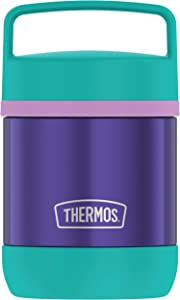 Thermos Stainless Steel Vacuum 10 Ounce handle, Purple Insulated Food Jar, 10oz