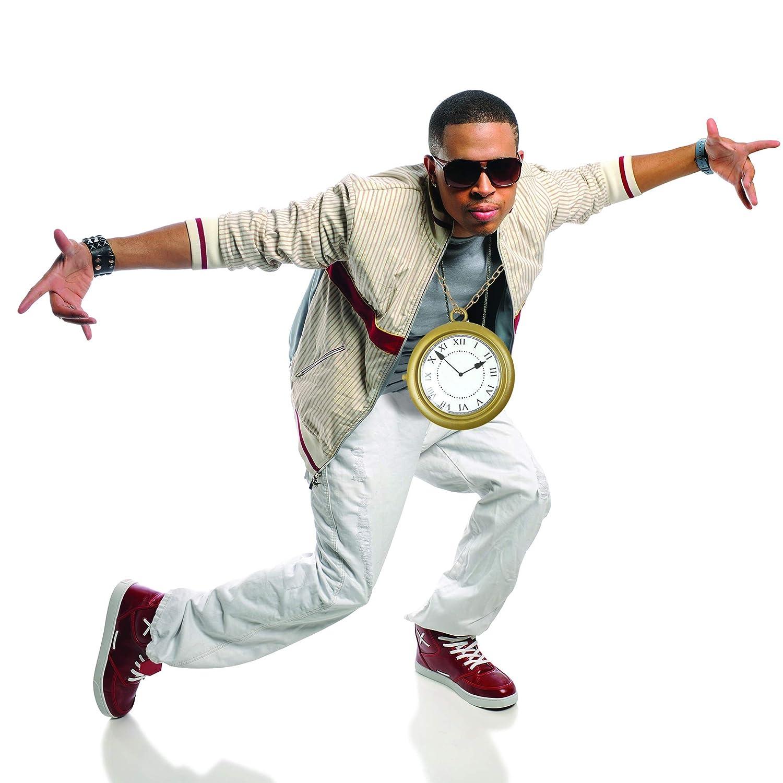 White Rabbit Clock 1 Piece Hip Hop Rapper Clock Skeleteen Jumbo Gold Clock Necklace
