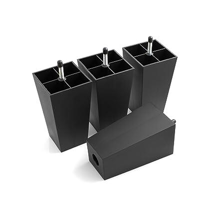 Design61 Juego de 4 Sofá patas de plástico para muebles ...