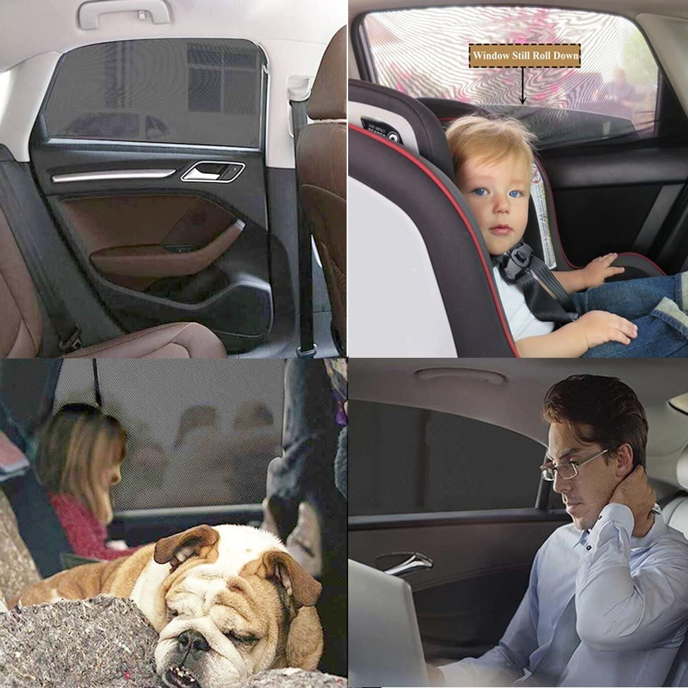 Big Ant Car Sun Shade Side Window Shade for Baby,Mesh Side Window Sunshade Sun Glare and UV Rays Protector for Baby Child and Pet Adjustable Fit Trucks//SUVs//CRVs 2PCS