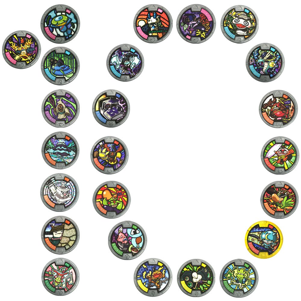 Anime Yo Kai Watch Medal Series 1 Mega Value 10 Pack 10x Random Styles Supplied