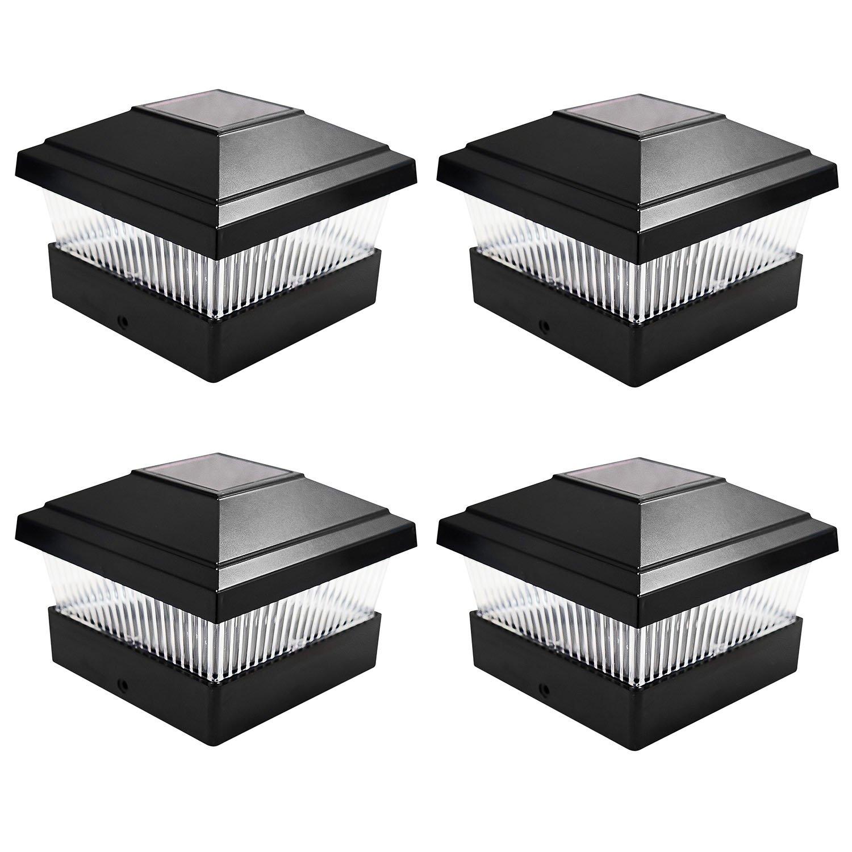 Solalite Set 4 flammig LED Solar-Außen, quadratisch, anzubringen ...