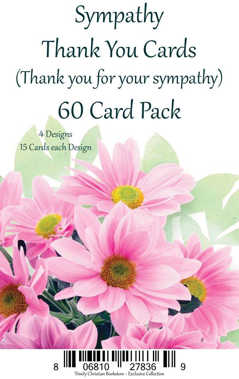 Sympathy Thank You Cards Premium 60 ct. Religious Greeting Card Asst. w/ Scripture by Caring Thoughts