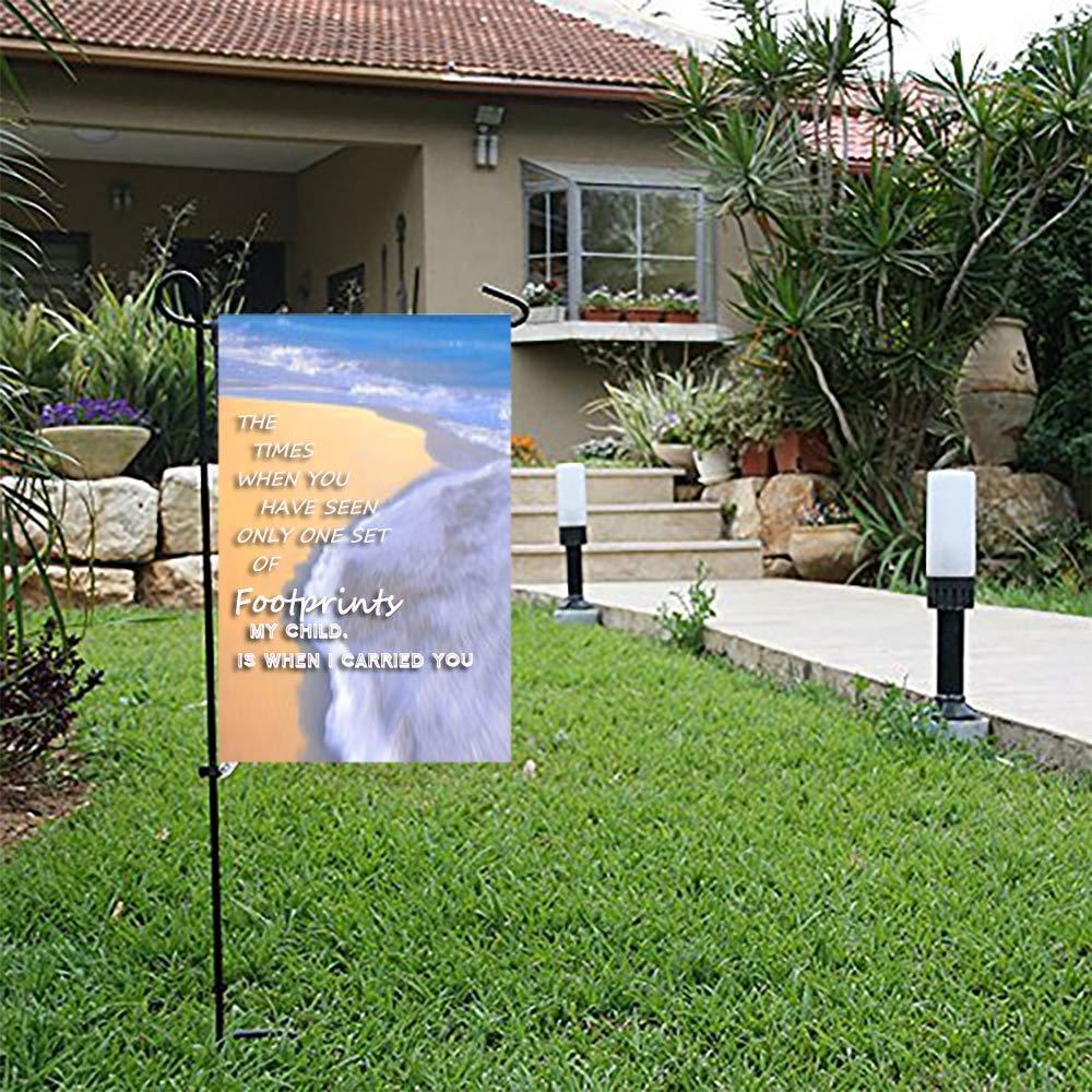 Amazon Com Col Dom Garden Flag Footprints In The Sand Summer